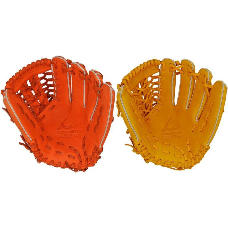 ソフトボール用 北米ステアハイド オールポジショングローブ 女性向け 右投用/左投用 オレンジ/イエロー